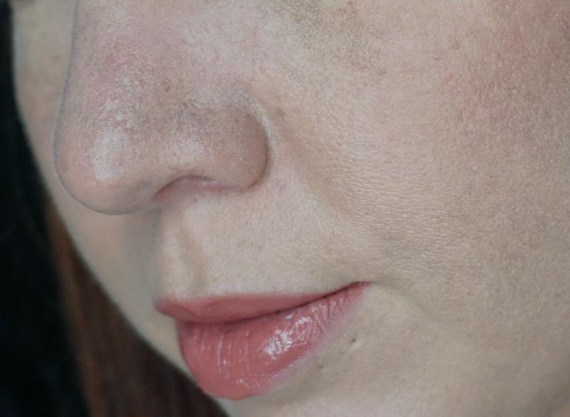 Milk-Makeup-Blur-Foundation-Review-Light-application-nose