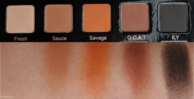 Violet-Voss-Hashtag-Pro-Eyeshadow-Palette-swatches-1st-row